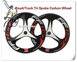 Wholesale Tri Spoke Wheelset - 700C Tri Spoke Wheels Carbon Bicycle Wheelset Clincher Tubular carbon 3 spoke wheels Road  Fixed Gear wheels FFWD Wheelset