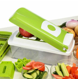 Wholesale vegetables chopper - 12 In 1 Vegetable Fruit Nicer Slicer Dicer Plus Chopper Cutter Peeler Vegetable Fruit Multi Grater Peeler Cutter Chopper Slicer KKA2262