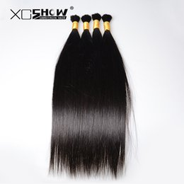 Wholesale Indian Human Hair China - 200gram 25-75cm Indian Hair Bulk 100% raw human hair material human hair bulk buy from china 7a brading straight virgin hair sell