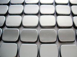 Wholesale Plain Metal - Small size hinge tin box square tin silver gift box sealing plain tin wedding candy boxes