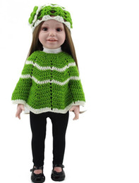 Wholesale New American Girl Doll Clothes - Free Shipping New Year Merry Christmas gift 18' American girl doll with clothes silicone lifelike baby doll baby toys girls gift