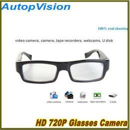 Wholesale Hd Spy Camera Glass - 1280*720 Spy Super Mini Dvr Slim Glasses HD Camera Eyewear Glasses Hidden Camera