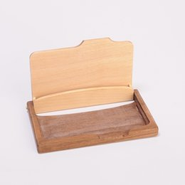 Wholesale card case wood wholesale - Fashion Card Holder Multi Function Name ID Credit Holder Case Wood Card Storage Box Gift For Friends Office Supplies 14js J R