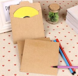 Wholesale Dvd Holds - Wholesale-10pcs Lot Kraft single CD CD bag Quality Kraft Paper dvd Bags Cover Envelope Sleeve Holding 1 Discs Kraft paper disc receive bag