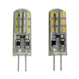 Wholesale 12v G4 Led Blue - Led G4 Dimmable Bulb 12V DC 24 SMD 3014 Silicon Lamp Crystal Chandelier White Warm Red Green Blue