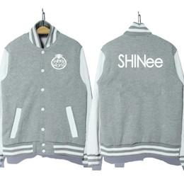 Wholesale Quality Printing Group - Wholesale- kpop Korea music group shinee logo coat jacket baseball uniform hoodie 3 colors good quality