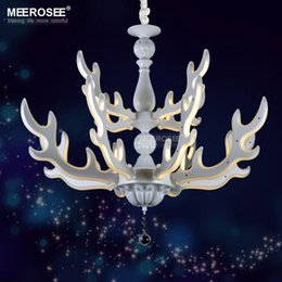 2016 Neue Ankunft LED Kronleuchter Moderne Weiße Farbe Acryl Suspension  Leuchte Geweih Form Drop Lampe Für HomeDecoration Günstige Geflügellampen