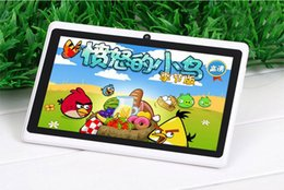 Wholesale Cheap Dual Camera Tablets - Q88 7 Inch cheap tablets Tablet PC Android 4.4 phable ALLwinner A33 Quade Core tablets Dual Camera 8GB 512MB Capacitive wifi bluetooth