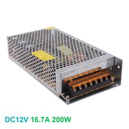 fontes de alimentação reguladas de 12 vcc Desconto Fonte de alimentação AC 100-240 V para DC 12 V 200 W LED Adaptador de Transformador Adaptador de Iluminação Interna Regulada para Tira CONDUZIDA
