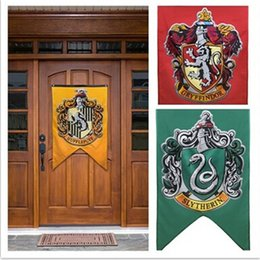 konfetti silber großhandel Rabatt 75cmx125cm Harry Potter Gryffindor Hufflepuff Slytherin Ravenclaw Flagge Hogwarts College Flagge Home Decor Polyester Banner
