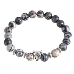 Wholesale Womens Stone Bracelets - Bracelets Wholesale Womens Mens Bracelets Lava 7 Chakra Healing Balance Beads Bracelet Rhinestone Reiki Prayer Stones Bead Bracelet
