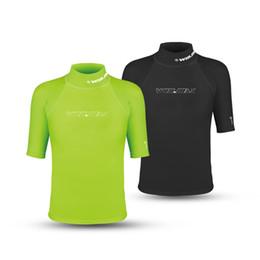 Wholesale Suit For Diving - WINMAX Black and Green Diving Suits Swimwear for men Short Surf Clothing Shirt Rash Guard Men Swimwear Lycra Rash Guard For Men Surf Shirt