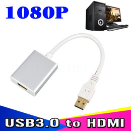 Wholesale Usb Multimedia Adapter - Full HD 1080P USB 3.0 to HDMI Converter USB3.0 to HDMI DVI Cable Graphic Multi Display Adapter for PC Laptop HDTV