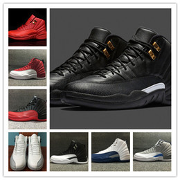 Wholesale Cheap Size 12 Women Shoes - Wholesale 2016 air retro 12 flu game the master GS Barons men women basketball sports shoes sneakers TRAINERS high quality cheap size 36-47