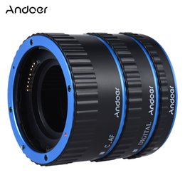 Wholesale Macro Extension - Colorful Metal TTL Auto Focus AF Macro Extension Tube Ring for Canon EOS EF EF-S 60D 7D 5D II 550D D928