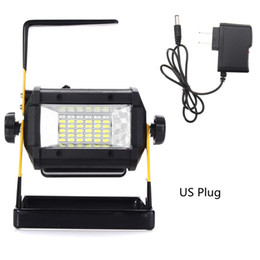 Wholesale Dc Led Flood Lights Work - Mising 50W Portable Rechargeable RGB LED Floodlight 36 LED Flood Light Spot Work Camping Lamp Outdoor Light EU US Plug