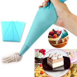 Wholesale Christmas Silicone Mold Wholesale - V1nf 30 cm length Silicone Pastry Bag Piping cream cakes decorated Free Shipping christmas silicone mold kitchen accessories