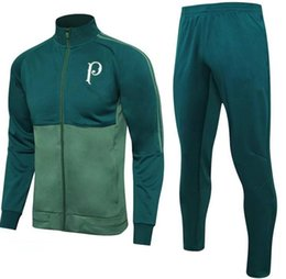 Wholesale Football Training Clothing - 2016 Sale Wholesale Soccer Tracksuit for Palmeiras Top Aaa Quality Long Sleeve Training Suit Pants Football Clothes Sports Wear Mens Sweater