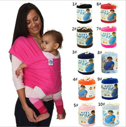 Wholesale Towel Carrier - 10 Colors Kid Wrap Kid's Slings Baby Carrier Gears Strollers Gallus Baby Carrier Towels wrap wraps coulorful Easy to Use DHL Free 20pcs