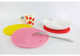 Wholesale Cushion Table Pads - Table Mats Durable Silicone Round Non-slip Heat Resistant Mat Coaster Cushion Placemat Pot Holder Silicone Pads Kitchen Mat