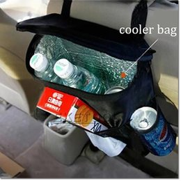 Wholesale Storage Containers Free Shipping - Hot Sell Car Covers Seat Organizer Insulated Food Storage Container Basket Stowing Tidying Bags car styling free shipping