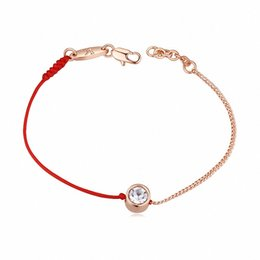 Wholesale Thin Bracelets For Women Wholesale - Wholesale-Crystal From austrian jewelry thin red thread string rope Charm Bracelets for women Fashion New sale Top Hot summer 117884