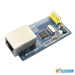 Wholesale Contact Frequency - Wholesale-New W5500 Ethernet Module Network Hardware TCP  IP 51  STM32 Microcontroller Program Over W5100 Electronic DIY Kit 1Pcs