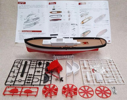 Wholesale Metal Toy Bow - Free Shipping DIY Strong Bow Paddle Wheel Electric Powered Boat Assembled ship Model Educational Toy Children Gifts