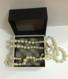 Wholesale High quality fashion brand pearl necklace for women Pendant necklace for wedding jewelry C crystal long necklaces