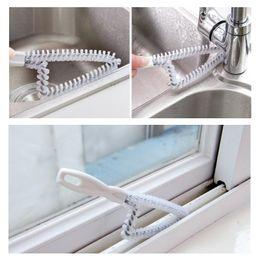 Wholesale Windows Door Roller - 100pcs Wholesale Hand-held Doors Groove Cleaning Brush Kitchen Window Outlet Oven Wire Brush Tube Cleaning Brush ZA0422