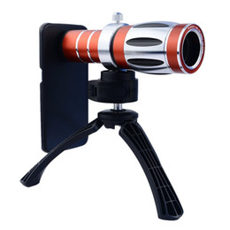 Wholesale Case For Tripod - Wholesale-Orbmart 20X Optical Zoom Lens Camera Telescope With Mini Tripod Case Cover For iPhone 6 6s 6 Plus 6s Plus