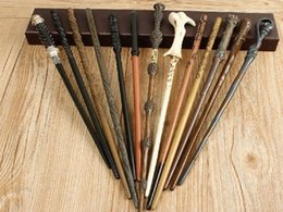 Wholesale Harry Potter Deluxe - Metal iron Core Newest Quality Deluxe Free shipping brand new Harry Potter COS Narcissa Malfoy Magic Wands Stick with Gift Box Packing