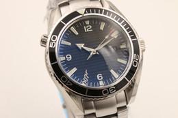 Reloj de pulsera de skyfall online-HOT SALE reloj hombres Co-Axial planet ocean 600m skyfall automático mecánico inoxidable pulsera relojes hombres negocios relojes de pulsera