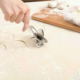 Wholesale ravioli machine - Stainless Steel Dough Press Dumpling Maker Mould Pie Ravioli Cooking Pastry Tools Circle Dumpling Wraper Cutter Making Machine