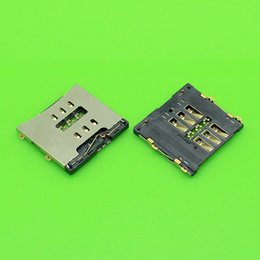 Wholesale Card Reader Iphone 4s - Wholesale-10pcs lot BrandNew For iPhone 4 4G 4S Sim Card Holder Reader Tray Slot Socket Free Shipping