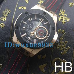 Wholesale Steel Dive Case - Men's luxury brand fashion watches men 18k gold case F1 king power watch quartz chronograph watches leahter band men dive wristwatches