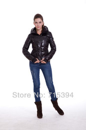 Wholesale Ladies Long Red Dress Coats - New Wholesale Luxury top quality Down Jacket For Women Black Fashion Coat Outerwear Goose Dress Lady Parka my002