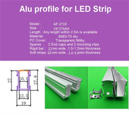 Wholesale Led Lights For Inground - 10m 10X1m 40inch 19*27mm ultra high embedded led aluminium profile for floor,inground ,led bar light for 12mm strip