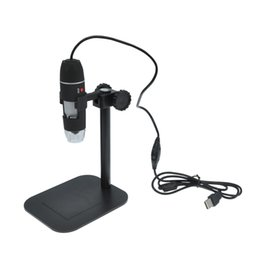 Lupas electronicas online-50 X a 500 X USB LED Microscopio electrónico digital Lupa Cámara Negro Hot Drop mundial