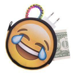 2019 imagem moda criança Imagem estéreo lifelike Emoji Bolsa 3D impresso bolsa da folha da lona Mini carteira das crianças 10 tipos de expressões Moda nova moeda bolsas imagem moda criança barato
