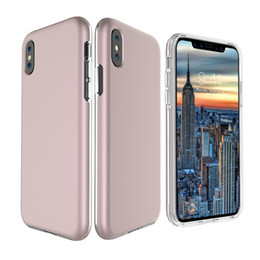 Wholesale Smoothing Card - For iphone x 10 X edition Soft TPU & Hard PC Smooth Case Scratch Resistant Back Shell Flexible Cover For Samsung Galaxy Note 8 DHL SCA327