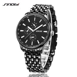 Wholesale Sinobi Wrist Watch - SINOBI Watch Men Quartz-Watch Luxury Brand Men's Watch Waterproof Clock Men Wrist watches Relogio Masculino Fashion reloj hombre