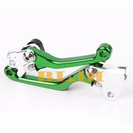 Wholesale Kawasaki Clutch Levers - NEW cross-country Dirt Bike CNC Brake Clutch Aluminum Motorcycle Levers Brake High quality For Kawasaki KX250F KX450F 2013 2014 2015 2016