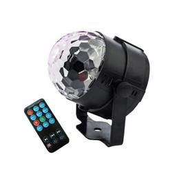 Control remoto de luz dj online-Mini RGB LED Luz de escenario Controles remotos Luz Disco Bola Luces LED Fiesta Lámpara Mostrar Etapa Efecto de iluminación Alimentado por USB