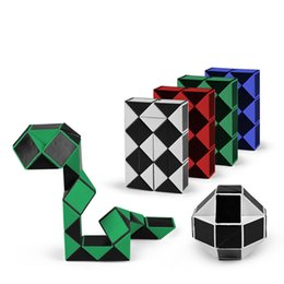 Wholesale Mini Toy Snakes - Endorsed Mini Creative Magic Snake Shape Toy Game 3D Cube Puzzle Twist Puzzle Toy Gift Random Intelligence Toys Supertop Gifts