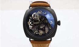 Wholesale Seals Watch - new style luxury Brand automatic Black Seal big watch wrist mens wristwatches leather sport black marina watches