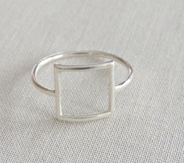 Einzigartiger bester freund schmuck online-Minutes 1 PC gold silver rose gold punk square ring gift for friends and unique jewelry JZ112 joint holiday best gift
