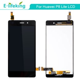 Wholesale Display Huawei - Top Quality AAA For Huawei P8 and For P8 Lite LCD Display Touch Screen Digitizer Assembly Replacement Repair Parts with Free DHL Shipping