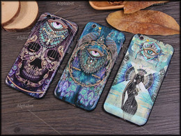 Wholesale Beauty Dreams - 2016 tiger lion skeleton peacock dream catcher naked beauty Skyeye pattern phone case cover Fitted Case For iPhone 6 6s 6 plus iphone 5s SE
