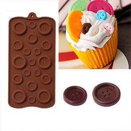 Wholesale Silicone Mold Buttons - 200pcs Wholesale Button Muffin Silicone Sweet Candy Jelly Ice Mould Mold Baking Pan Tray Make DIY ZA0578
